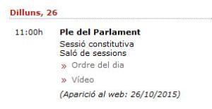 Sessió constitutiva