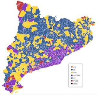 Eleccions generals Catalunya municipis